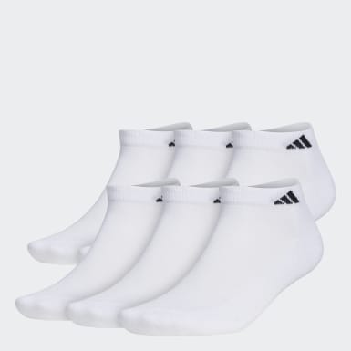 Men's Basketball White Low Socks 6 Pairs