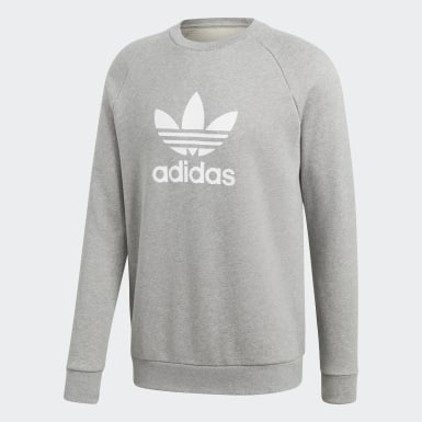 ADIDAS PULLOVER SWEATSHIRT Embroidered Sewn Patch Logo Red