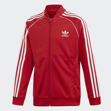 Kids Originals Red SST Track Jacket
