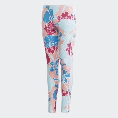 เด็กผู้หญิง Originals สีชมพู กางเกงเลกกิ้ง