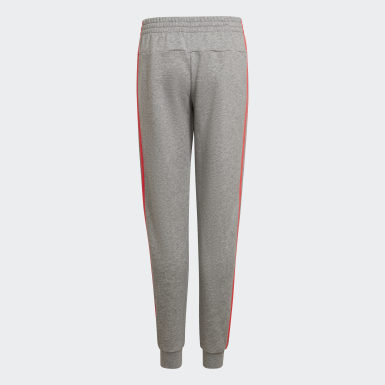 Girls Athletics Grey Essentials 3-Stripes Pants