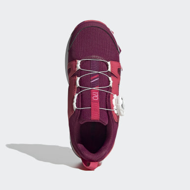 Kids TERREX Burgundy Terrex Boa Hiking Shoes
