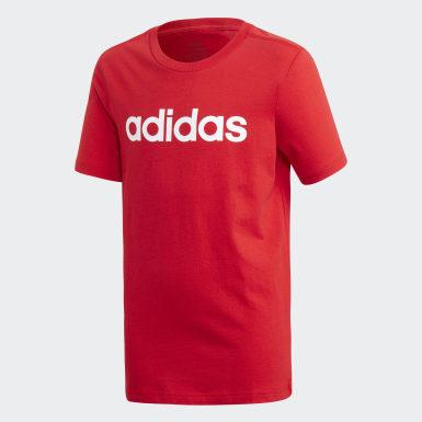 Kluci Athletics červená Tričko Essentials Linear Logo