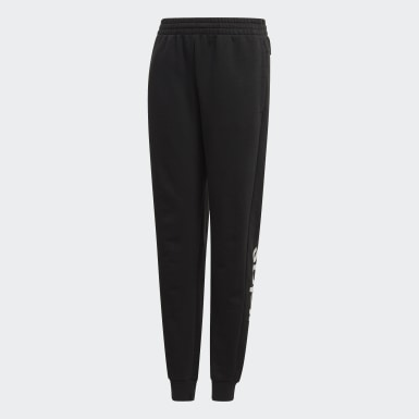 Youth 8-16 Years Athletics Black Linear Joggers