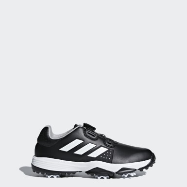 Youth Golf Black Junior Adipower Boa Shoes