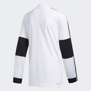 Children Training White CLRBLOCK TRAINING LS TOP