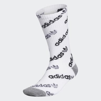 Men's Originals White Forum Repeat Crew Socks
