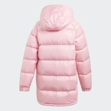 розовый Утепленная куртка