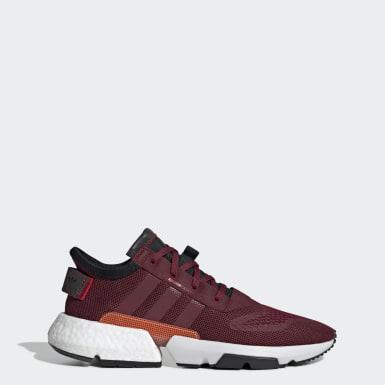 ผู้ชาย Originals สีแดงเบอร์กันดี รองเท้า POD-S3.1