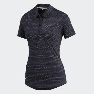Frauen Golf Microdot Poloshirt Schwarz
