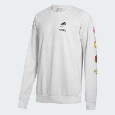 Men Sport Inspired White Pokémon Crewneck Sweatshirt