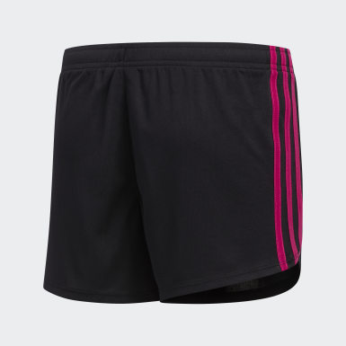 Youth Training Black 3-Stripes Mesh Shorts