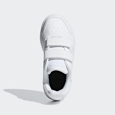Children Sport Inspired White Hoops 2.0 Shoes