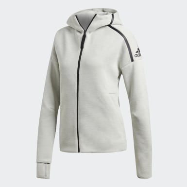 Women Athletics Grey adidas Z.N.E. Fast Release Hoodie