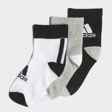 Youth 8-16 Years Training Black Ankle Socks 3 Pairs