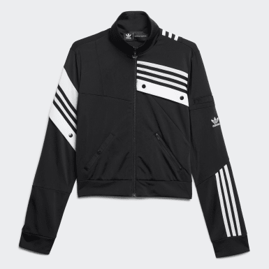 Women Originals Black Deconstructed Track Jacket
