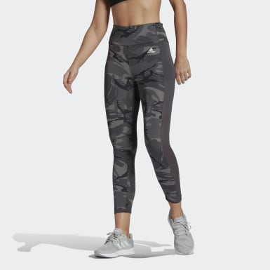 Dames Crosstraining Grijs AEROREADY Designed 2 Move Camouflage High-Rise 7/8 Legging