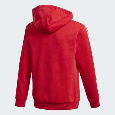 Camisola com Capuz Vermelho Raparigas Originals