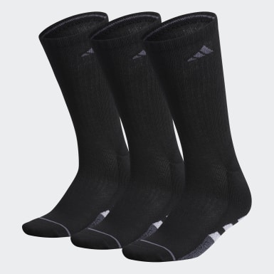 Women's Training Black Cushioned 2.0 Crew Socks 3 Pairs XL