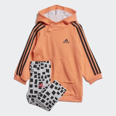 Børn Træning Orange Hooded kjolesæt