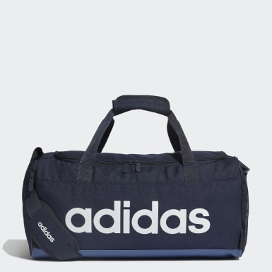 Training Blue Linear Logo Duffel Bag