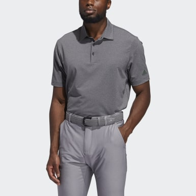 Men Golf Black Ultimate365 Heather Polo Shirt