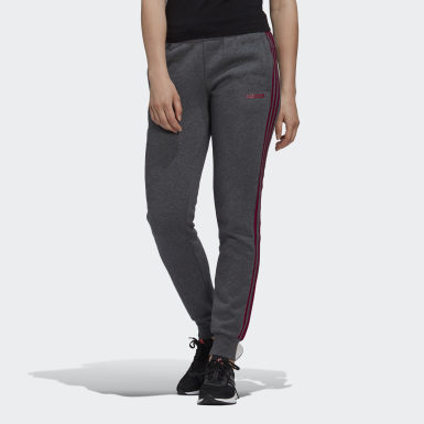 Women's Essentials Grey Essentials 3-Stripes Joggers
