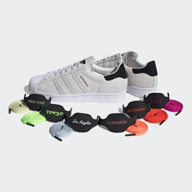 ผู้ชาย Originals สีขาว รองเท้า Superstar