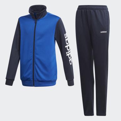 Conjunto Pants y Sudadera Azul Niño Training