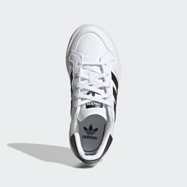 Kids 4-8 Years Originals White Team Court Shoes
