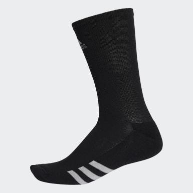 Männer Golf Golf Crew Socken, 3 Paar Schwarz