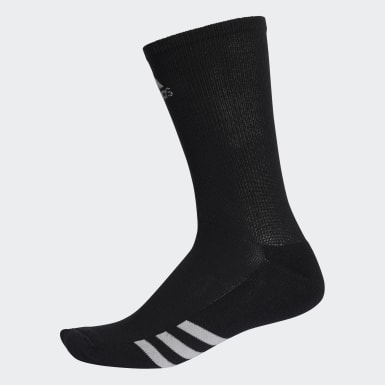 Men Golf Black Golf Crew Socks 3 Pairs
