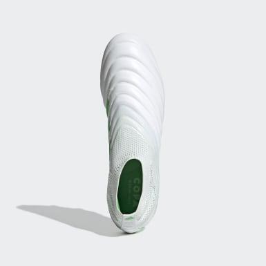 Calzado de Fútbol Copa 19+ Terreno Firme Blanco Hombre Fútbol