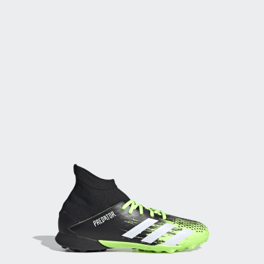 Children Soccer Green Predator Mutator 20.3 Turf Shoes