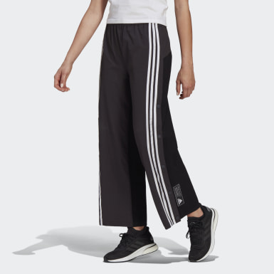 Women Athletics Black adidas Sportswear Aeroknit Snap Pants