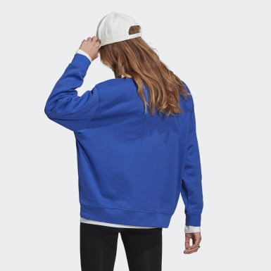 Women Originals Blue LOUNGEWEAR Adicolor Essentials Sweatshirt