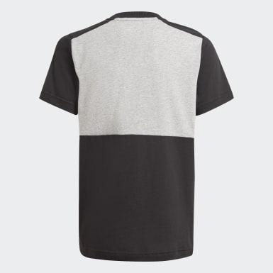 Camiseta adidas Essentials Colorblock Gris Niño Athletics