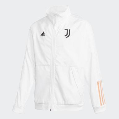 Kinder Fußball Juventus Turin Anthem Jacke Weiß