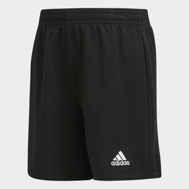 Boys Soccer Black Parma Shorts