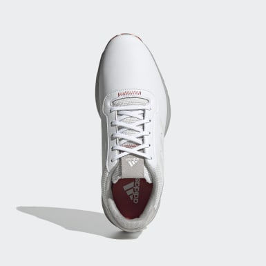 Golf Wit S2G Spikeless Leren Golfschoenen