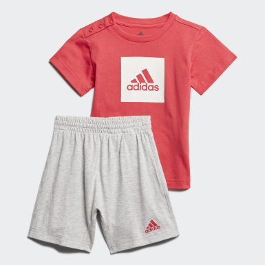 Kids Training Pink Logo Summer Set
