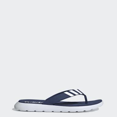 ผู้ชาย ว่ายน้ำ สีน้ำเงิน รองเท้าแตะ Comfort