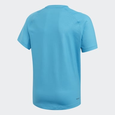 T-shirt Primeblue Bleu Garçons Yoga