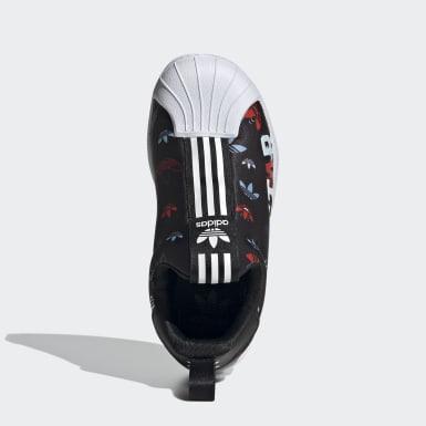 เด็ก Originals สีดำ รองเท้า Superstar 360 X
