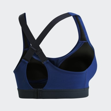 Top Deportivo Estampado Stronger For It Azul Mujer Training