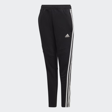 Youth 8-16 Years Football Black Tiro 19 French Terry Tracksuit Bottoms