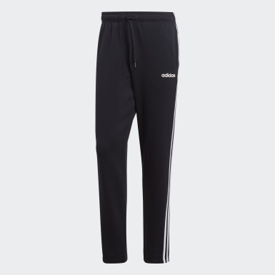 Men Training Black Essentials 3-Stripes Pants