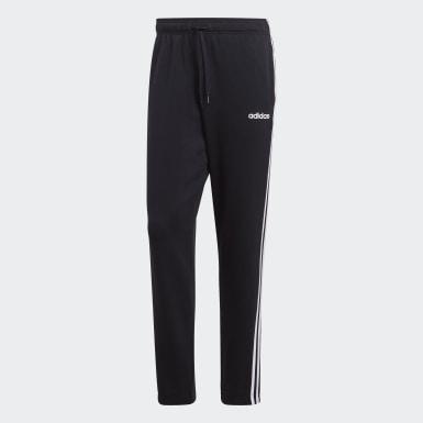 Muži Athletics čierna Tepláky Essentials 3-Stripes