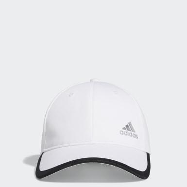 Women Golf White Silver Logo Cap