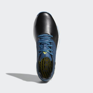Men Golf Blue Adipower 4orged Wide Shoes